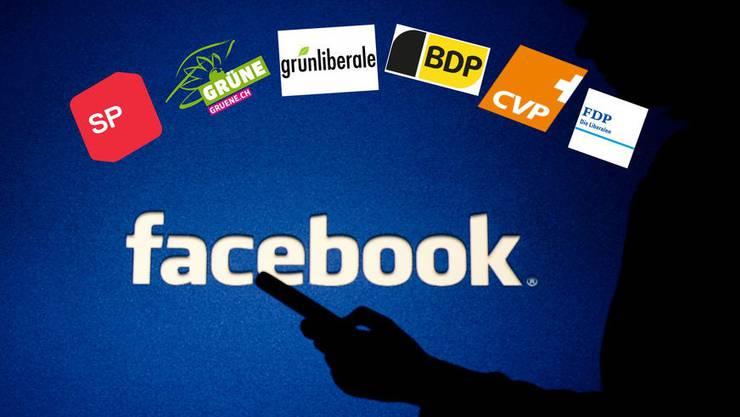 Sechs der sieben Parteien mit Fraktionsstärke geben sich auf Facebook transparent – die SVP zögert.