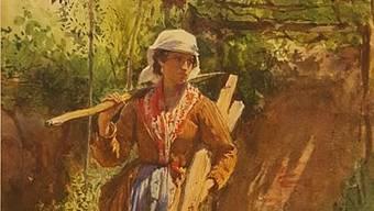 """""""Zigeunermädchen"""" von Oskar Kokoschka ist eines von 67 gestohlenen Gemälden, die letzte woche in Wien sichergestellt wurden. (Ausschnitt)"""