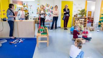 Schulpflegebesuch in einem Kindergarten in Untersiggenthal.