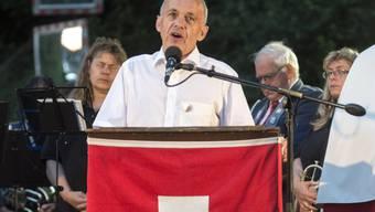 Bundesrat Ueli Maurer hält seine 1. August-Rede in Lützelflüh