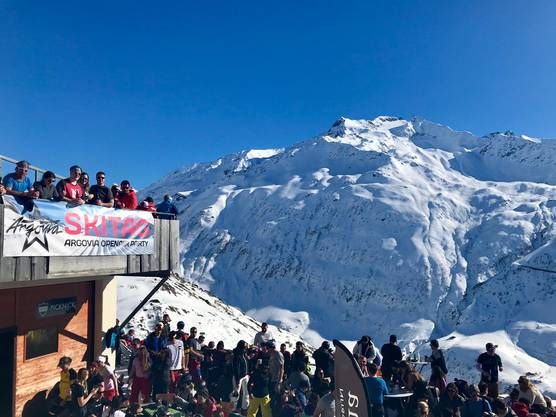 Tolle Aussicht am Argovia Skitag