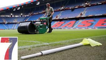 Auch Rasenchef Marc Studach leistet seinen Beitrag zu den Erfolgen des FC Basel