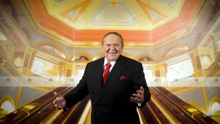Sheldon Adelson bei einem Interview 2007 im Venetian Macao Resort Hotel, Macao, China.