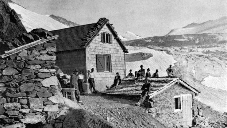 Die Trifthütte auf einer Aufnahme um 1910