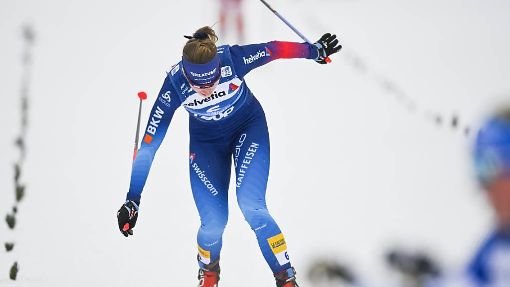 Nadine Fähndrich kämpft um jede Sekunde.