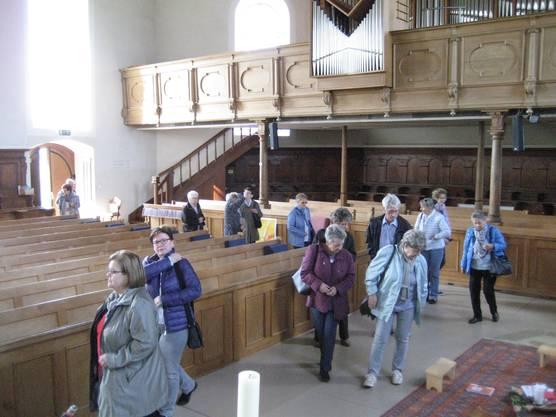 Besichtigung der Kirche St. Othmar.