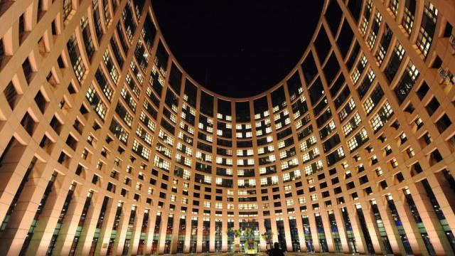 Blick auf das EU-Parlament in Strassburg
