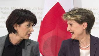 Es lief gut für die Bundesrätinnen Doris Leuthard und Simonetta Sommaruga: Ja zum Gotthard, Nein zur DSI.