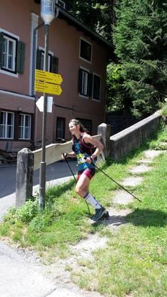 Kathrin Götz kurz vor dem Zieleinlauf in Lofer (3.Etappe)