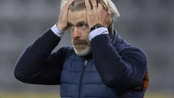 Aarauer Trainer Stephan Keller musste sich mit einem Remis zufrieden geben
