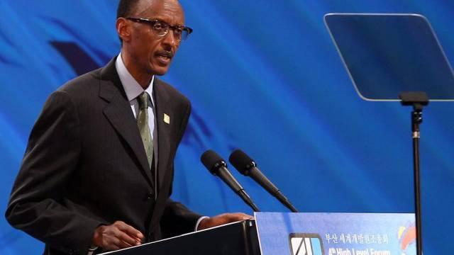 Präsident Paul Kagame (Archiv) dürfte erneut siegen