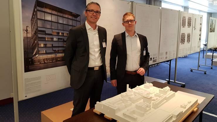 Andreas Hochstrasser (l.), Leiter Immobilien, und Lukas Christen, CFO der ZVF-Unternehmungen.