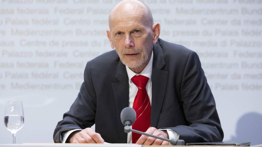 «Ich erwarte, dass in rund einer Woche der Anstieg nicht mehr so stark ist»: Daniel Koch vom BAG an einer Medienkonferenz zur Situation des Coronavirus am Samstag in Bern.