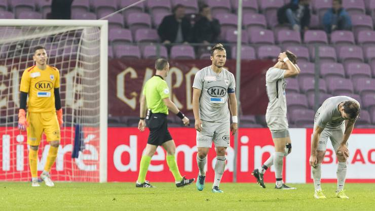 Es wollte auch diesmal nicht gelingen: Der FC Aarau verliert die Partie gegen Servette mit 1:3.