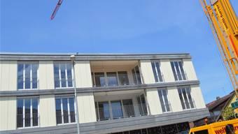 In der laufenden Legislaturperiode stehen in Windisch viele Bauprojekte an. Die Gemeinde ist selber an einigen Projekten beteiligt, wie hier beim Erweiterungsbau des Lindenhofs der Sanavita AG.