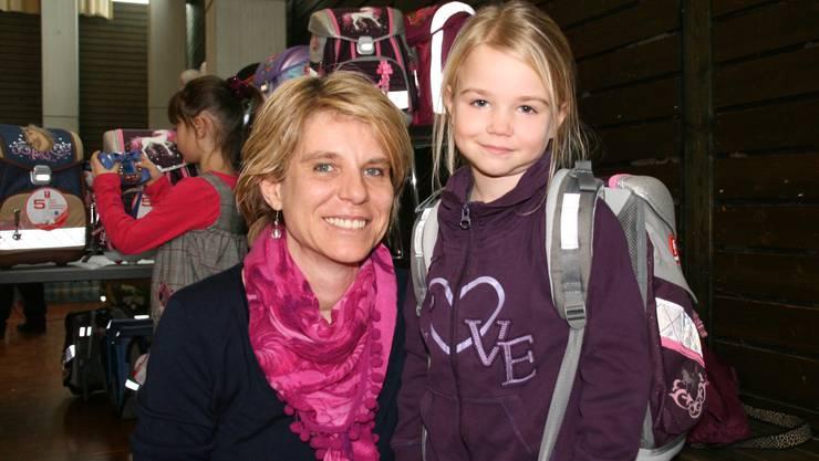 Frau Möckel mit ihrer Tochter