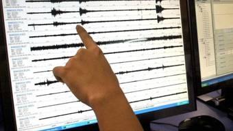 Aufzeichnungen eines Erdbebens (Symbolbild)