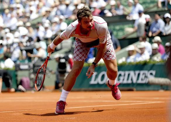 Stan Wawrinka während dem Halbfinal-Spiel gegen Jo-Wilfried Tsonga.