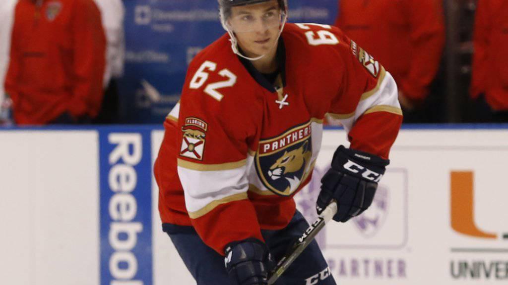 Als einziger Schweizer NHL-Spieler in der Nacht auf Sonntag siegreich: Denis Malgin