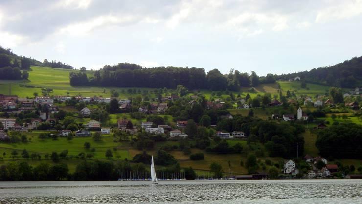 Die Gemeinde Birrwil vom Hallwilersee.