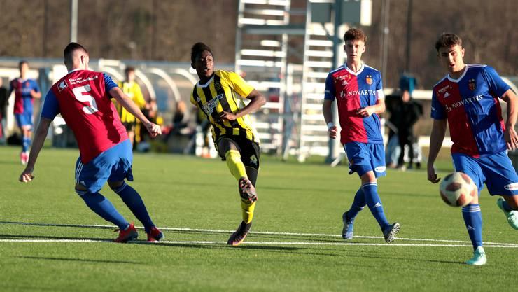 Die U21 des FC Basel in einem Testspiel gegen die Old Boys.