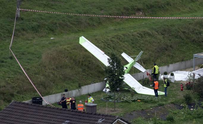 Eines der beiden abgestürzten Flugzeuge.