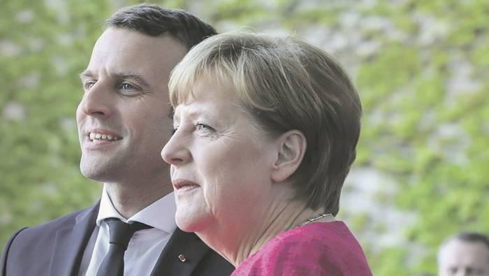 Stehen für ein erstarktes Europa: Frankreichs Präsident Macron und Deutschlands Kanzlerin Merkel wollen gemeinsam die europäische Rolle neu definieren und ein Gegengewicht zu US-Präsident Trump aufbauen.