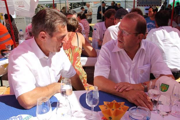 OK-Präsident Heinz Dätwiler (l