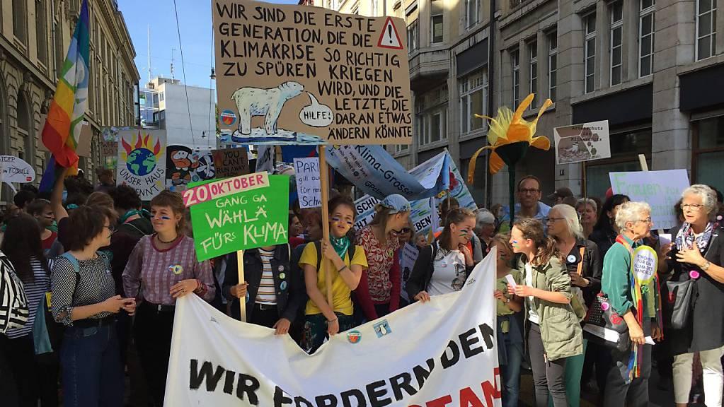 Für die nationale Klimademo reisten über 20'000 Menschen nach Bern.