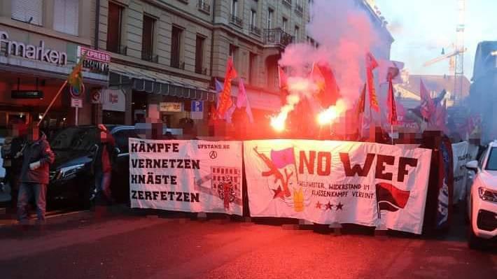Keine grösseren Zwischenfälle bei unbewilligter Anti-WEF-Demo