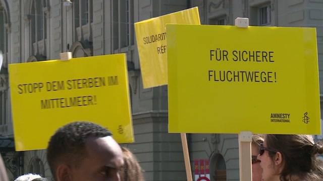 Demonstration für mehr Solidarität