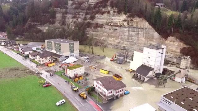 Steinschlag in Wohlhusen flutet Dorf