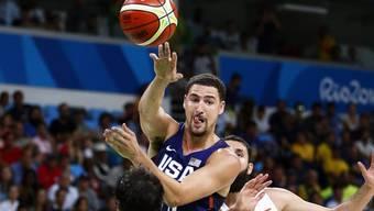 Treffsicher: Klay Thomspon markierte gegen Spanien 22 Punkte und zog mit den USA in den Olympiafinal ein