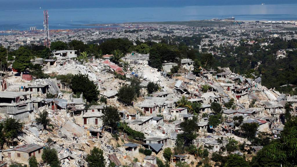 Haitis Hauptstadt Port-au-Prince nach dem Erdbeben vor zehn Jahren.
