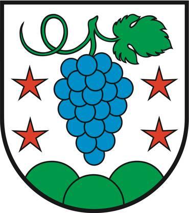 Bei der Bevölkerungsumfrage entfielen 487 von 760 Stimmen auf dieses farbige Traubensujet für das neue Wappen.