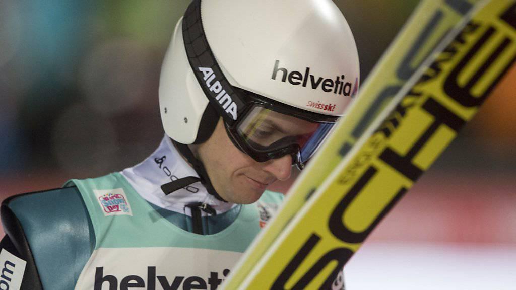 Noch immer auf der Suche nach dem optimalen Sprung: Simon Ammann in Engelberg