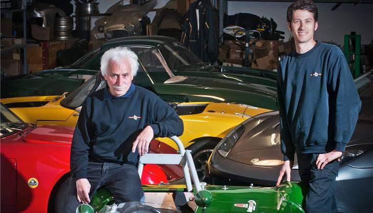 Bruno Schaffner (links) und Bruno Weibel. Foto: A. Bütschi