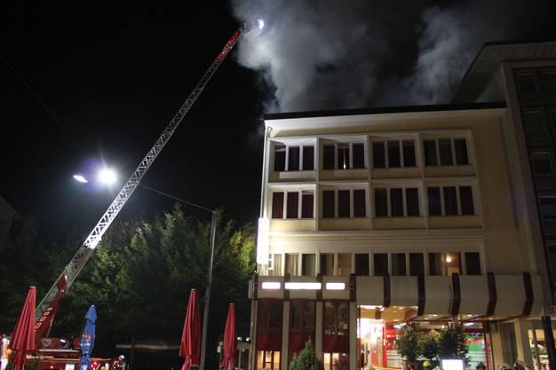 Feuerwehr-Grosseinsatz auf dem Marktplatz.