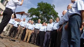 Verstärkung: Der Männerchor Schlieren hofft, es mögen einige der Neuzuzüger in den Gesang einstimmen. Christian Murer