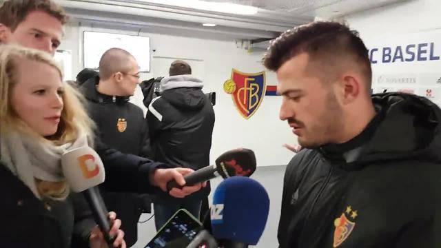 Albian Ajeti nach seinem Tor zum 1:0-Sieg gegen Sion