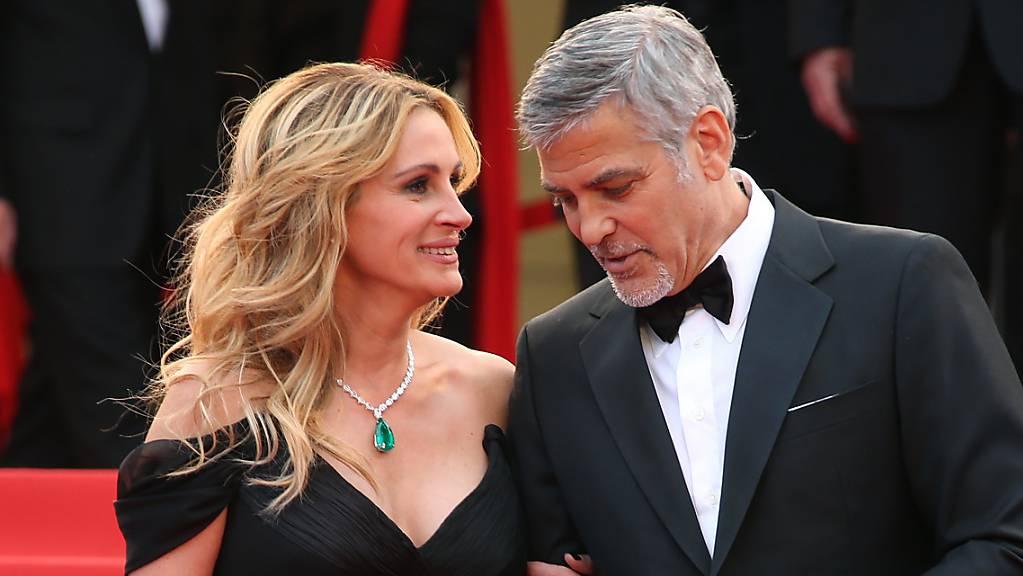 Julia Roberts und George Clooney spielen in einem neuen Spielfilm ehemalige Ehegatten. (Archivbild)