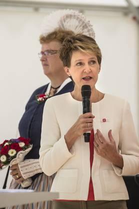 Festansprache von Bundespräsidentin Simonetta Sommaruga während der 1.-August-Feier 2015 auf dem Rütli.
