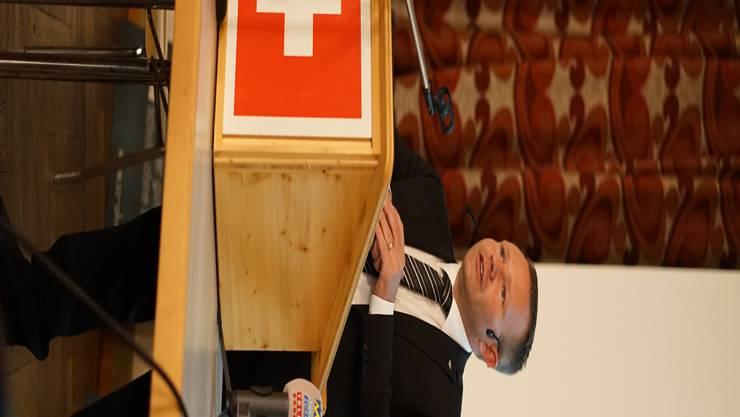 Letzter Auftritt als Parteipräsident: Silvio Jeker.