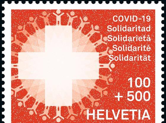 Die Solidaritätsmarke der Post kostet fünf Franken.