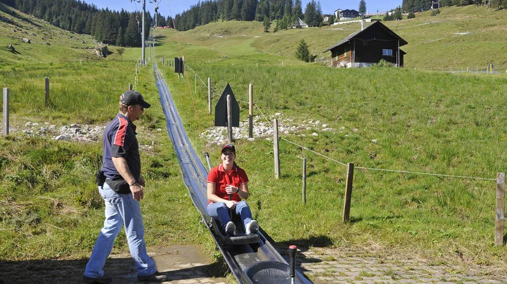 Fräkmünt/Pilatus: Felssturz oberhalb Rodelbahn