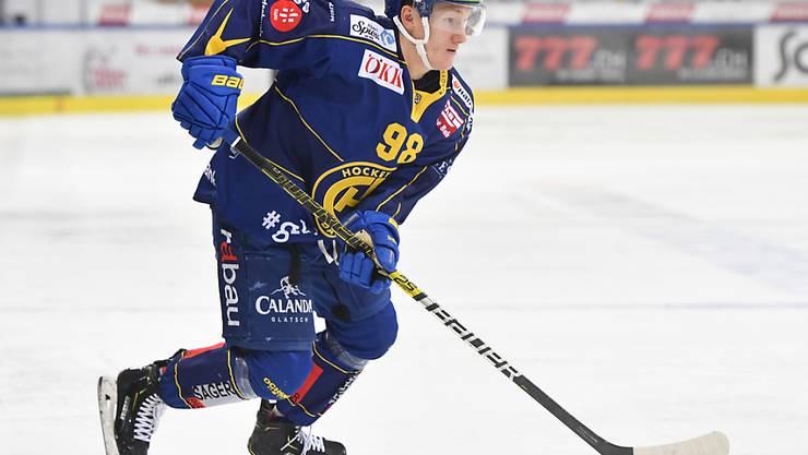 Center Benjamin Baumgartner vom HC Davos, Österreicher, ist der einzige aus der Schweizer Meisterschaft gedraftete Spieler.