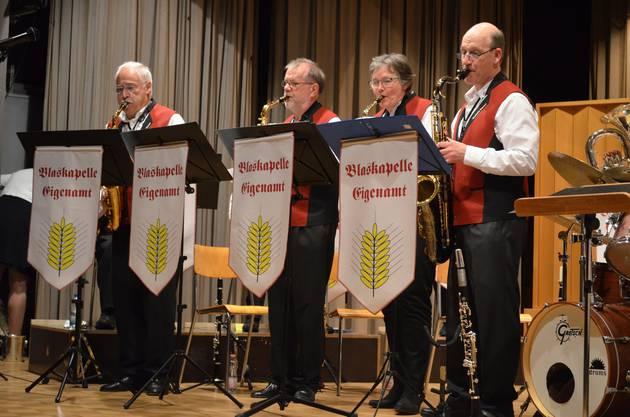 Polka, Jazz und Evergreens gehören zum Repertoire des Blaskapelle Eigenamt.