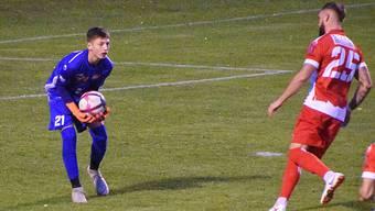 Der 15-jährige Neel Kissling (links) beim FC Solothurn blieb auch im Spiel gegen Zofingen ohne Gegentor.