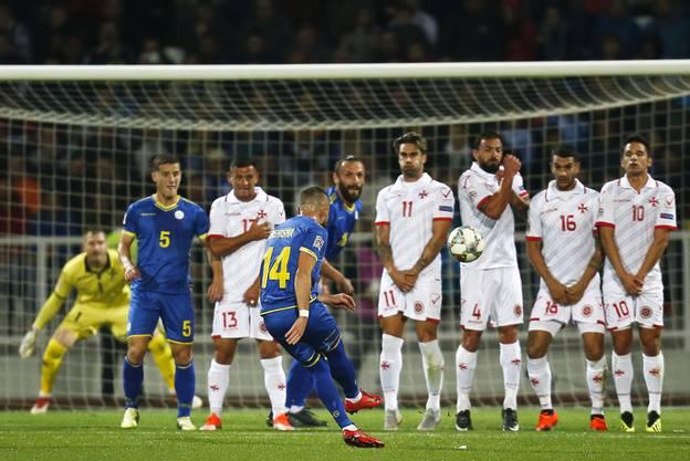 Weitere Impressionen vom Spiel des Kosovo in Malta.