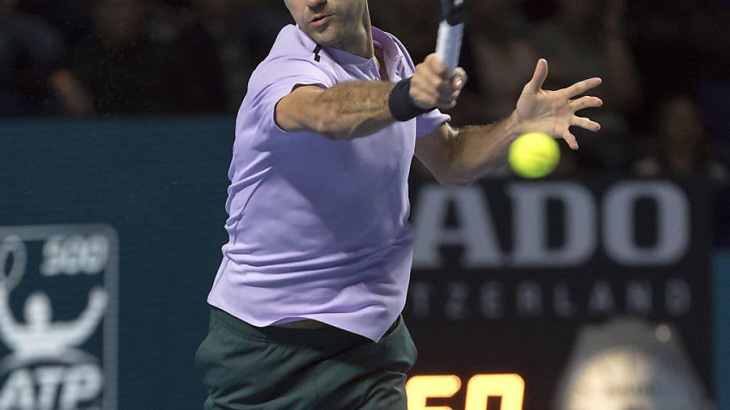 Roger Federer kennt nun die möglichen Gegner in Paris-Bercy